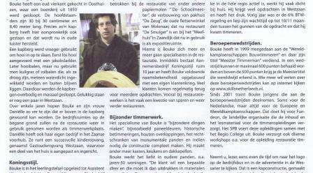 Stukje  over Koningsstijl in dorpsblad 'De Wessaner' 28e jaargang nr. 3 d.d. 30 maart 2012