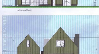 Nieuwbouw in moderne architectuur aan de Middel in Westzaan