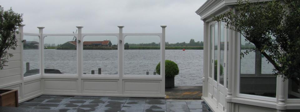 Maken van een windscherm, Lagedijk, Zaandijk
