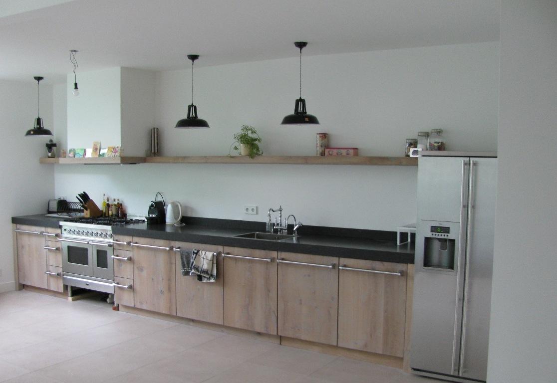 Koningsstijl » Eiken houten keuken, Lagedijk, Zaandijk