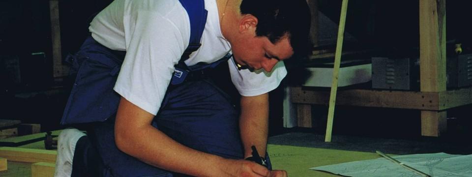 Bouke tijdens de Worldskills 1999